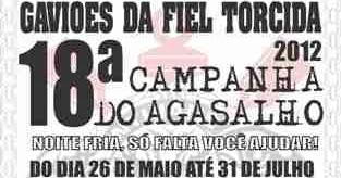 06a21a34eb Campanha do agasalho Gaviões da Fiel