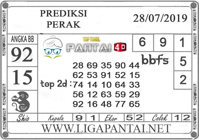 """PREDIKSI TOGEL """"PERAK"""" PANTAI4D 28 JULI 2019"""