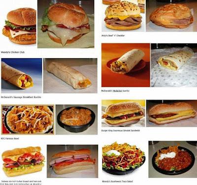 Essen aussehen in Werbung und in Wirklichkeit lustig