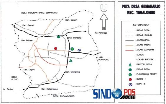 Profil Desa & Kelurahan, Desa Gemaharjo Kecamatan Tegalombo Kabupaten Pacitan
