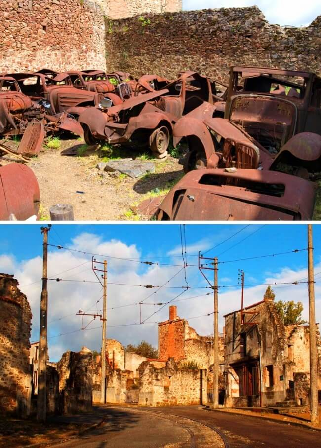12 Once Booming Places Around The World That Are Now Abandoned And Empty - Oradour-sur-Glane, France