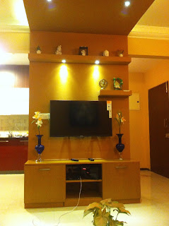 TV Unit design with concealed wiring