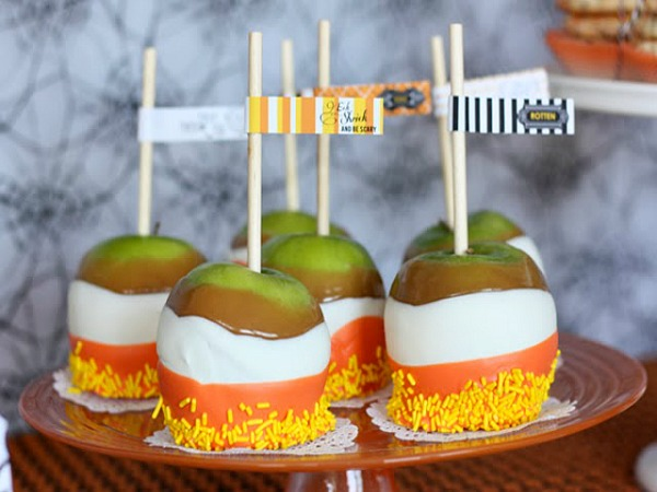 Candy Corn Treats - Featured