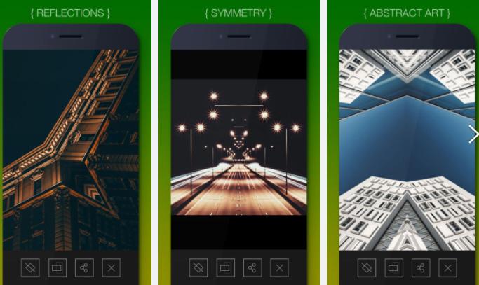 REFLKT - 自己創作鏡像對稱、抽象超現實照片