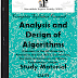 Analysis and Design of Algorithms Study Materials cum Notes PDF E-Books Free Download