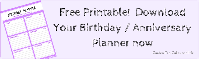 Birthday Planner Organiser Printable Free Download organizer
