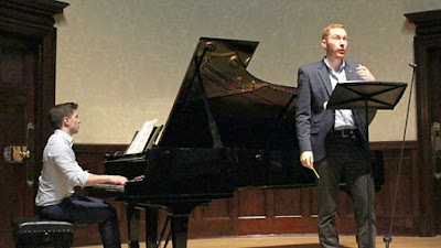 Robin Tritscher and Gary Matthewman in rehearsal at the Wigmore Hall - photo BBC