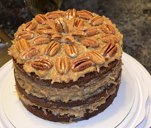 Dirt Therapy: German Chocolate Cake and Merry Christmas!