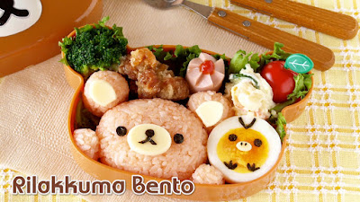 how to make rilakkuma bento lunch box video recipe create eat happy kawaii japanese. Black Bedroom Furniture Sets. Home Design Ideas