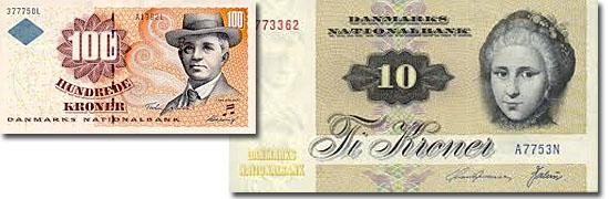 Dinheiro do mundo -Dinamarca - Corôa