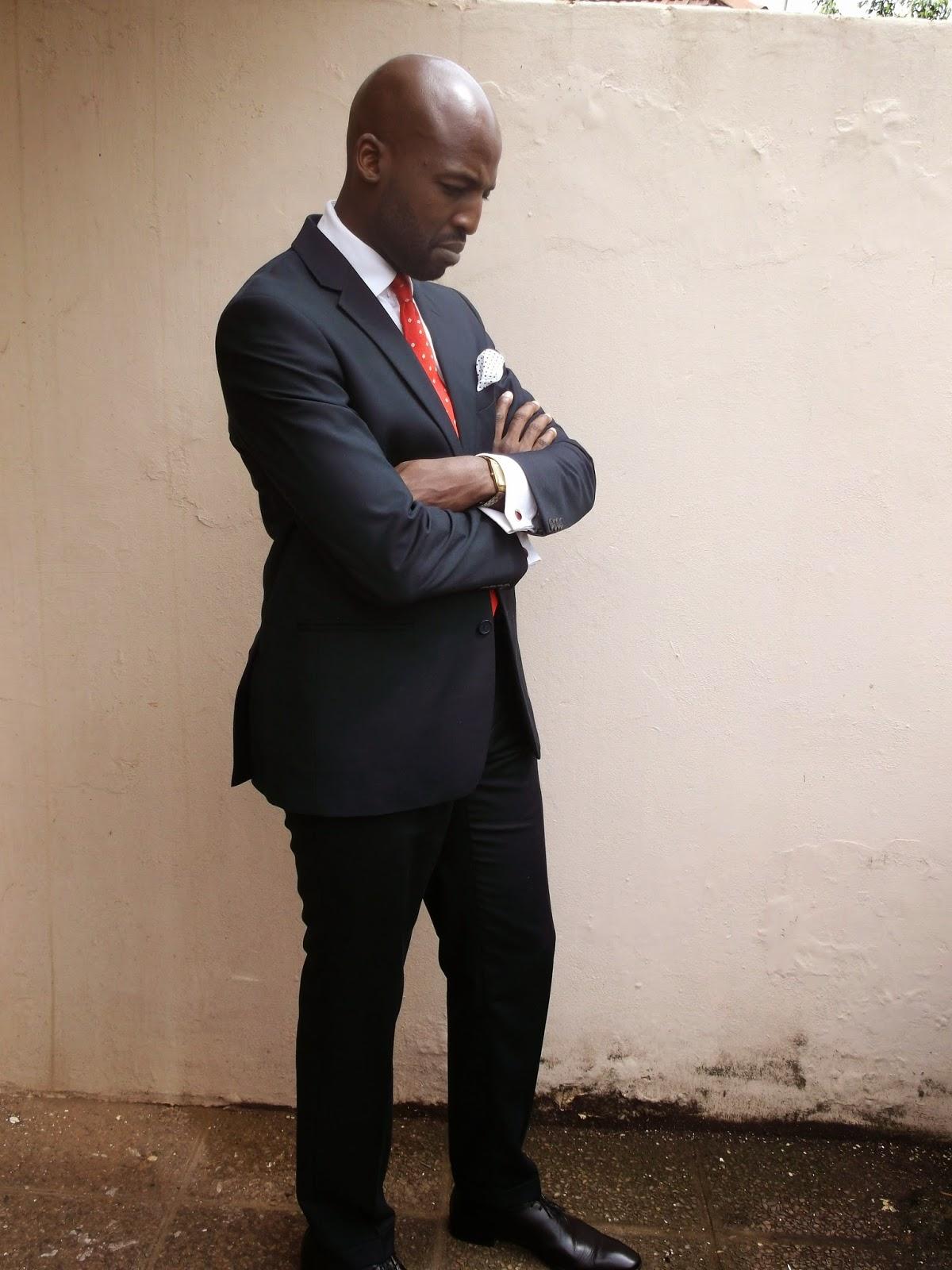 541be22b437f Perfect Gentleman: Brands: Combatant Gentlemen Navy Blue Modern Fit Suit