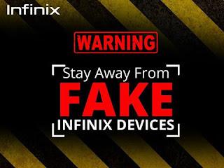 how to spot fake Infinix Hot 4