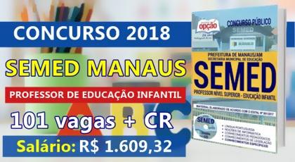 Apostila SEMED Manaus 2018 - Professor de Educação Infantil