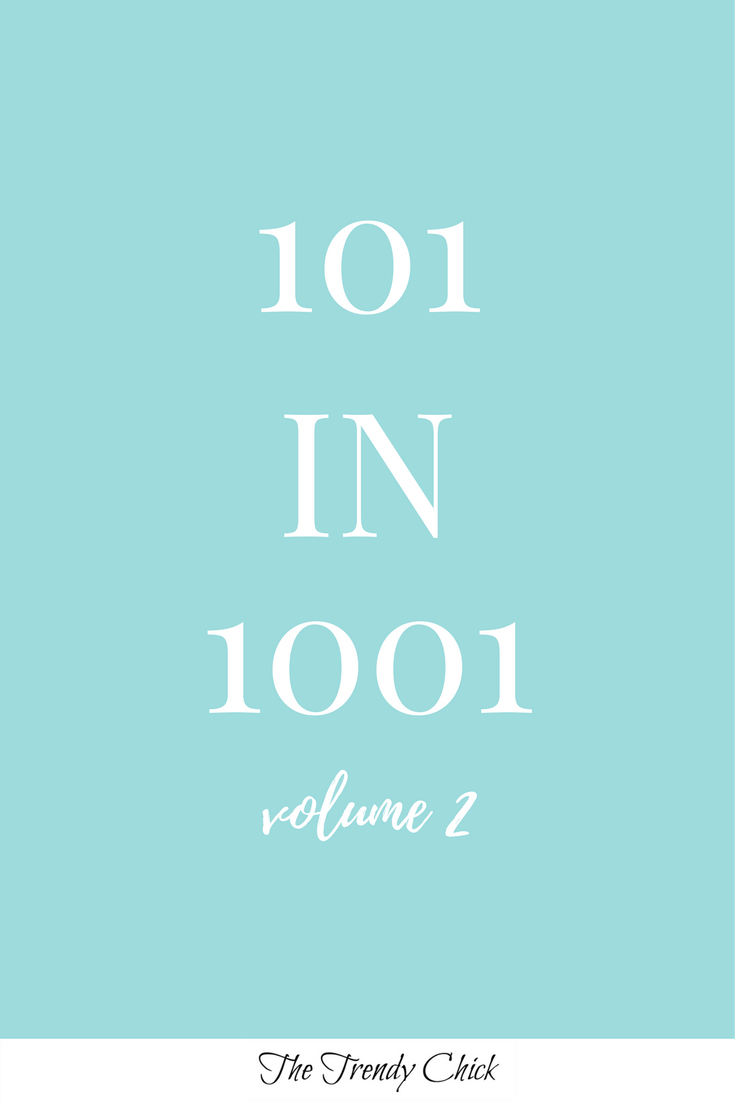 blue image with white letting stating 101 in 1001 volume 2
