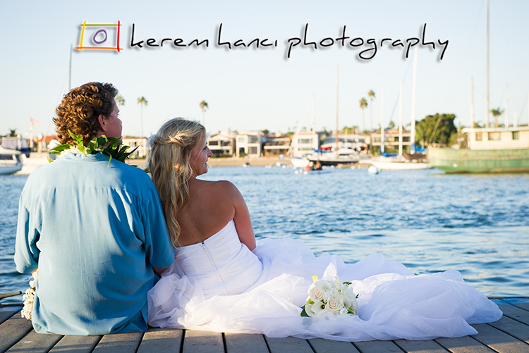 Here is the couple taking a breather before their reception at the American Legion Newport Harbor Post 291.