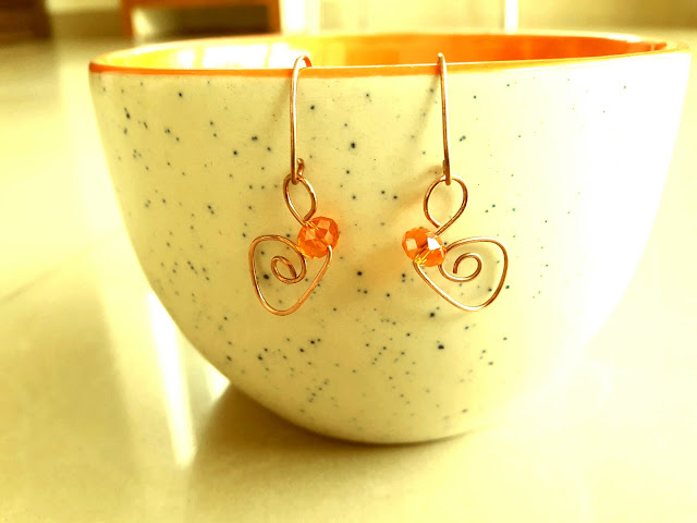 Copper Jewelry, Copper Wire Ear Rings, Copper Rings