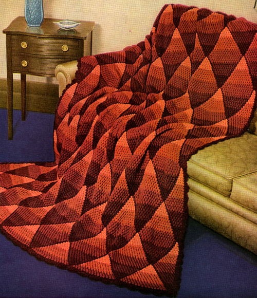 Shaded Diamond Afghan - Free Pattern