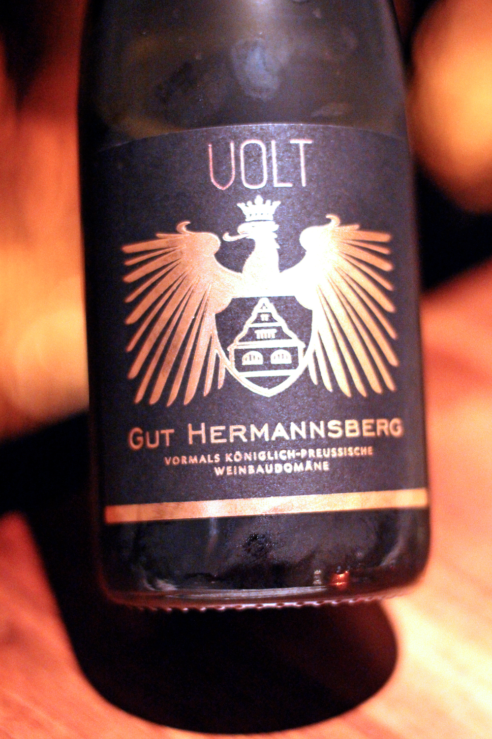 Gut Hermannsberg sparkling wine at Restaurant Volt, Berlin - travel & lifestyle blog