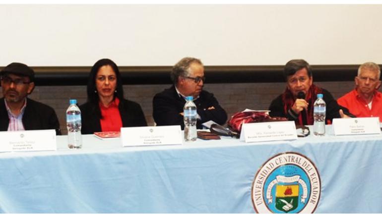 Delegados del @ELN_Paz conversaron sobre la negociación del proceso de paz