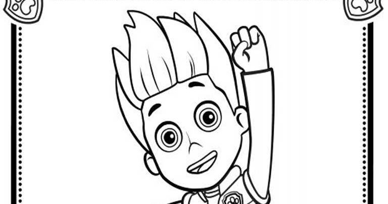 Paw Patrol Ryder Coloring Pages To Print : Paw patrol coloring pages ryder realistic