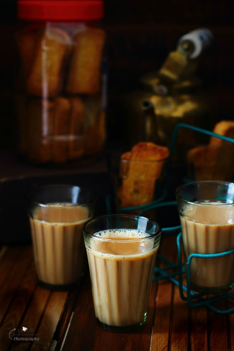 A picture of Indian Masala Chai served in tempered glasses
