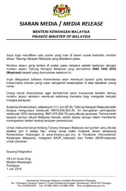 Jumlah Kutipan Terkini Tabung Harapan Malaysia Rm18 6 Juta Cerita Terkini Sensasi Dan Tepat