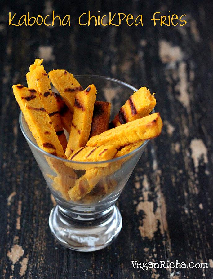 Chickpea Kabocha Fries. Vegan Glutenfree Recipe Fat-free ...