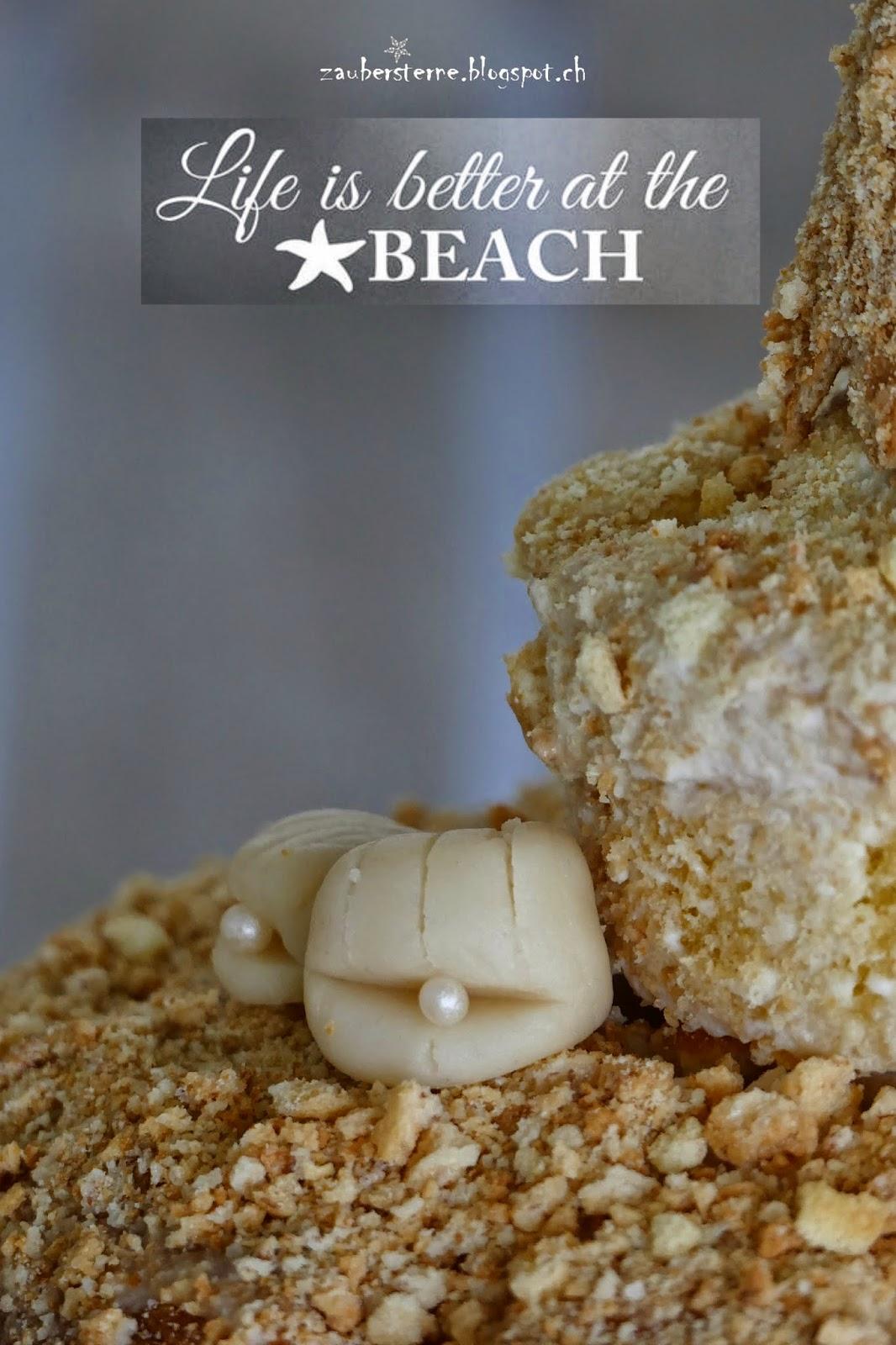 Muscheln aus Marzipan, Beachparty
