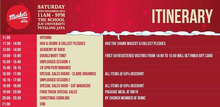 Christmas Shopping, Markets @ The School, Jaya One, Markets @ Jaya One, Markets Fourteen, Jaya One, The School, itenarary