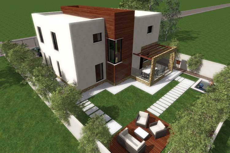 Casa moderna de 2 pisos proyectos de casas for Casa moderna 3 parte 2