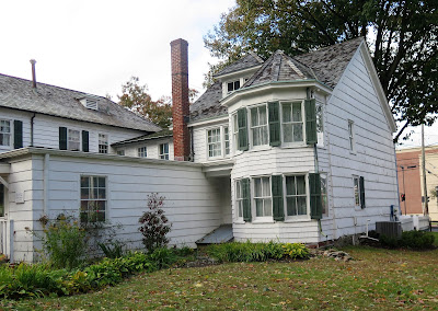 Rear view of the  David Conklin House in Huntington. Long Island NY.  The house is on the National Register of Historic Places.