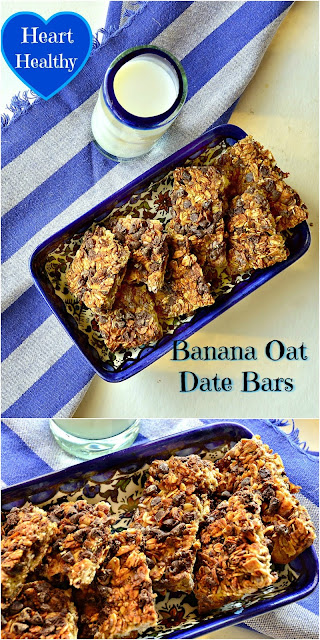 Banana Oat Date Bars are gluten free, added sugar free and dairy free. Filled with all great things they may just satisfy your sugar craving in a healthy way!
