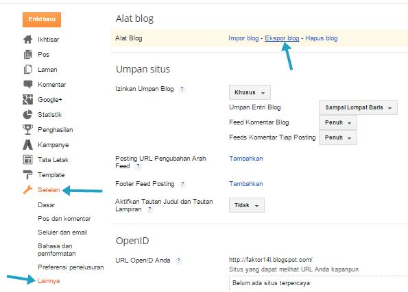 Cara Mudah Backup Posting Blog