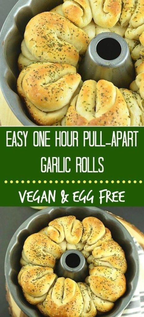 Vegan Easy Pull-Apart Garlic Rolls