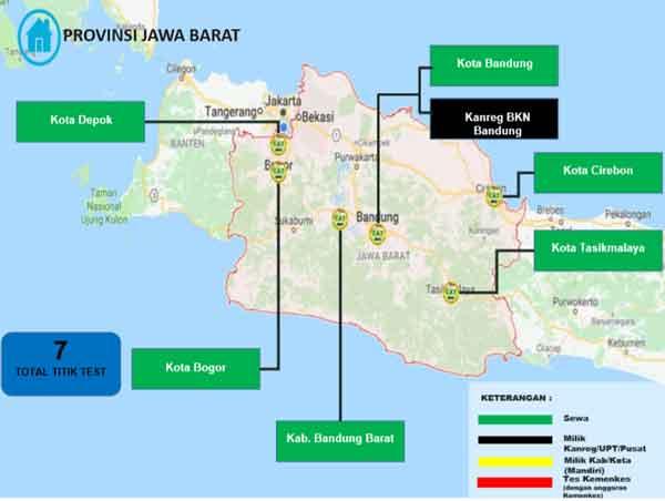 Lokasi Tes Cat BKN Propinsi Jawa Barat