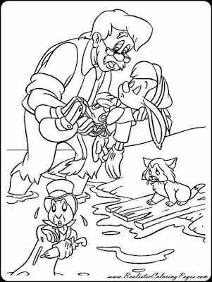 disney pinocchio coloring pages