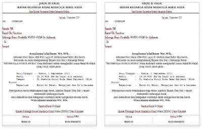 contoh undangan halal bihalal musholla hvs bagi 2