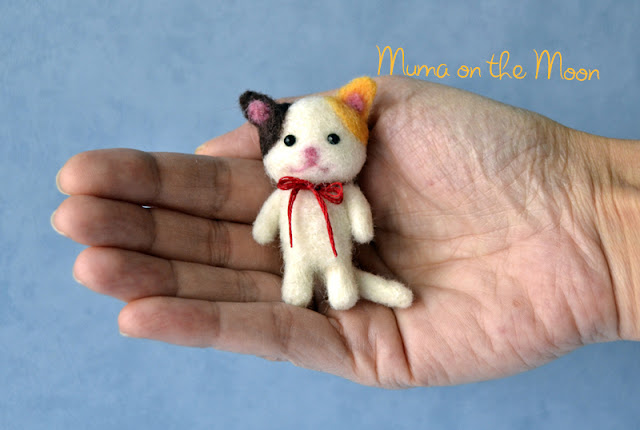 Tutorial Gatito Lana Afieltrada  Needle Felting Kitten