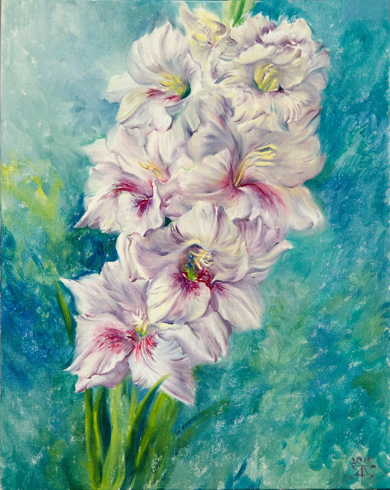 ArtWind original artworks, oil painting: Gladiolus