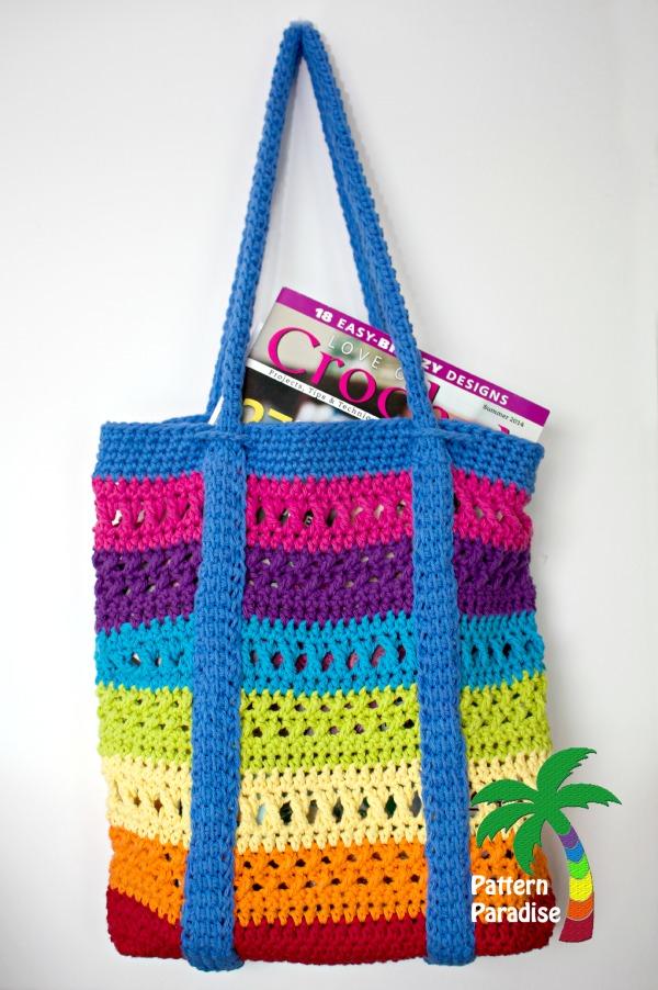 Fiber Flux Beautiful Beach Bags 16 Free Crochet Patterns