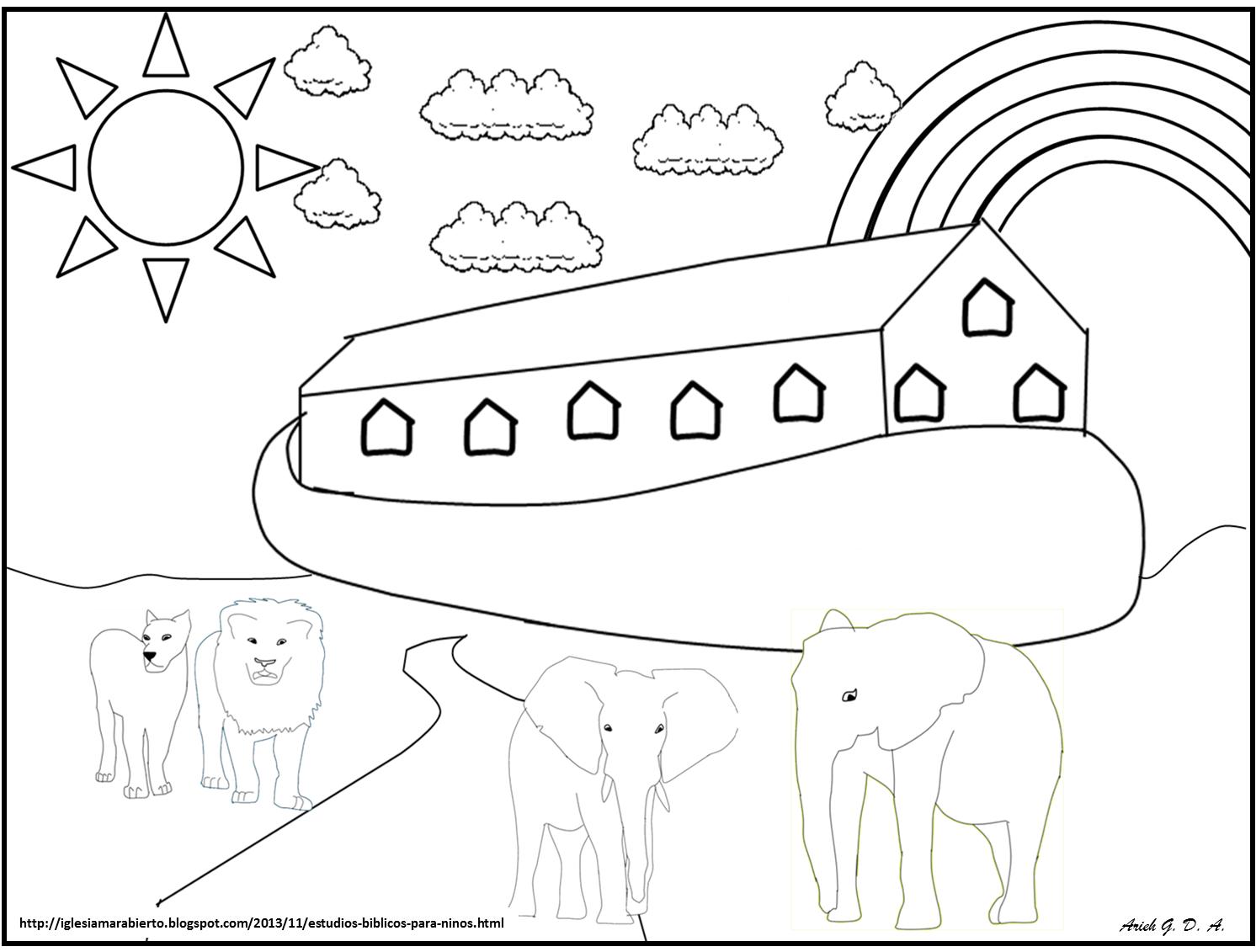 Dibujos Para Colorear Del Arca De Noe Para Imprimir: IGLESIA MAR ABIERTO: ESTUDIO BÍBLICO PARA NIÑOS (EL ARCA