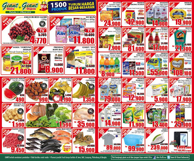 Katalog Promo GIANT Ekspres GIANT Ekstra Akhir Pekan Periode 02 - 04 Maret 2018