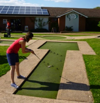 Crazy Golf at the Four Ashes Golf Centre in Dorridge