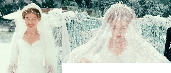 Evangelines Wedding Dress Is Beautiful Nanny McPhee Makes The Using Her Magic Powers And Designs It To Match Snowy Weather