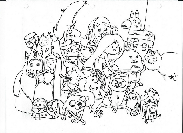 Adventure Time Coloring Pages Of Marceline