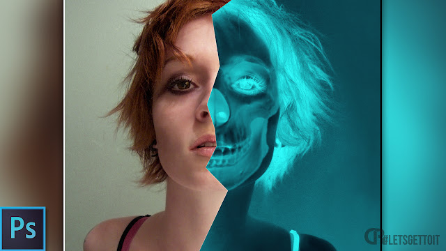 How to Create Snapchat X-Ray Skull Effect - Photoshop Tutorial
