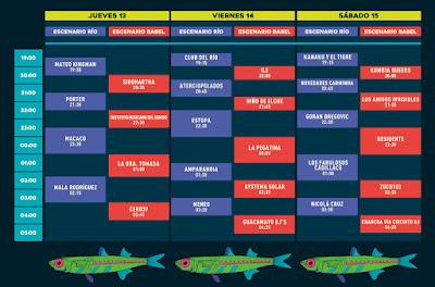 Horarios Festival Río Babel