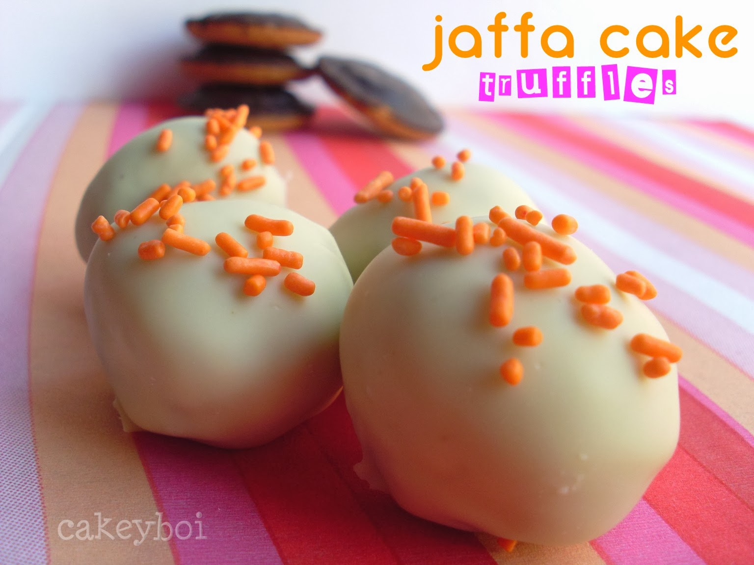 White Chocolate Jaffa Cake Truffles