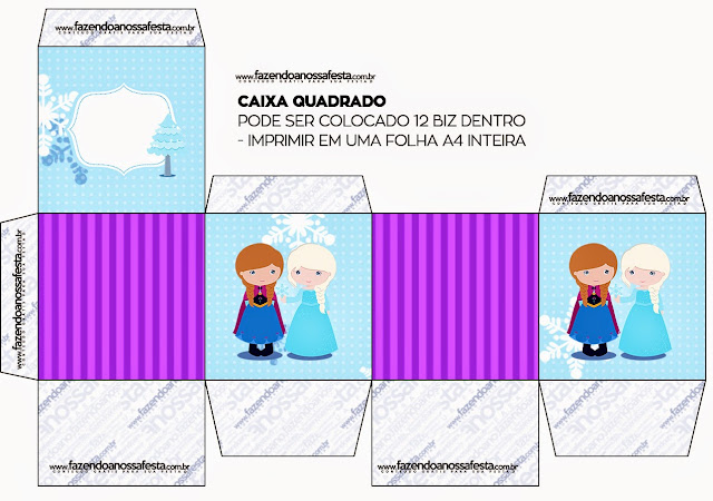 Frozen Babies in Christmas Free Printable Boxes.