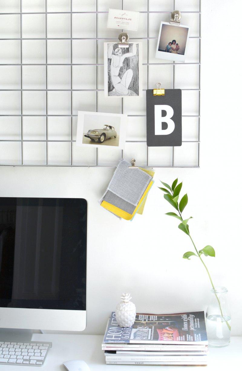 DIY home office memo board